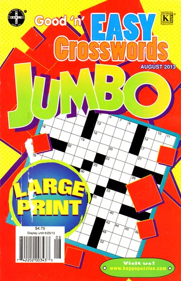 Good N Easy Crosswords Jumbo Cover - 8/1/2013