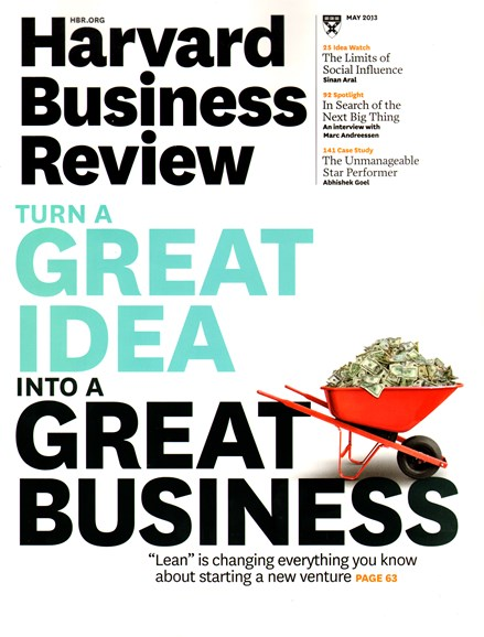 Harvard Business Review Cover - 5/1/2013