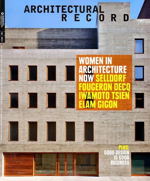 Architectural Record Cover - 6/1/2013