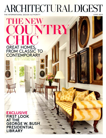 Architectural Digest Cover - 6/1/2013