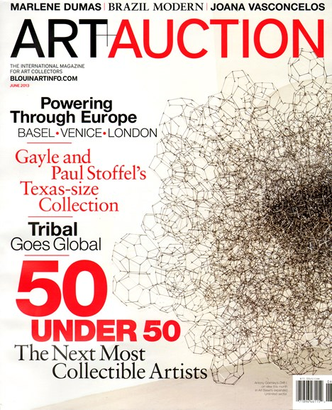 Blouin Art & Auction Cover - 6/1/2013