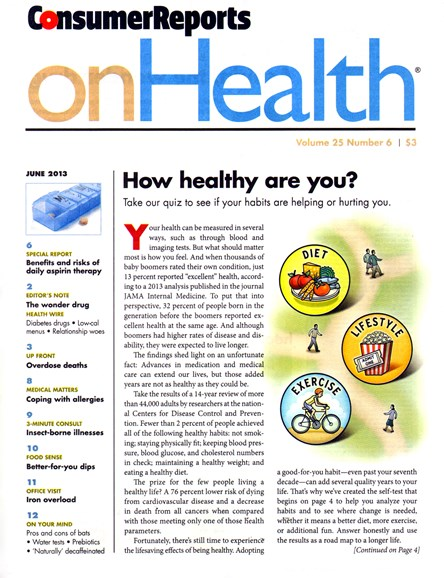 Consumer Reports On Health Cover - 6/1/2013