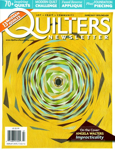 Quilter's Newsletter Cover - 6/1/2013