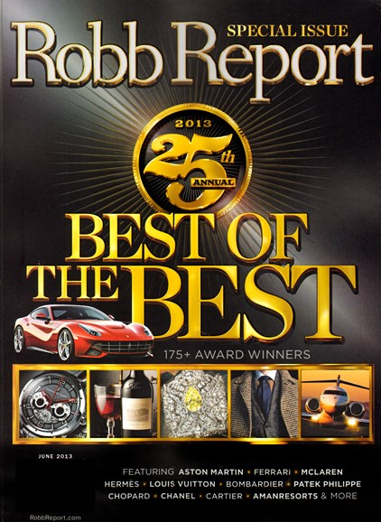 Robb Report Cover - 6/1/2013