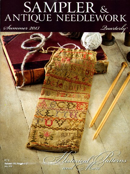 Sampler & Antique Needlework Qtry Magazine Cover - 6/1/2013