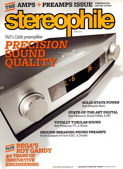 Stereophile Cover - 6/1/2013