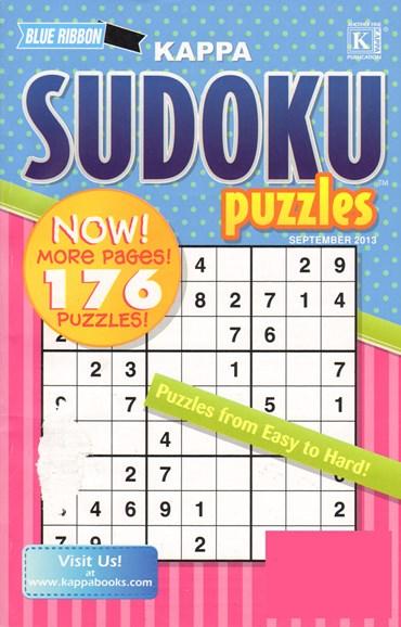 Blue Ribbon Kappa Sudoku Puzzles Cover - 9/1/2013