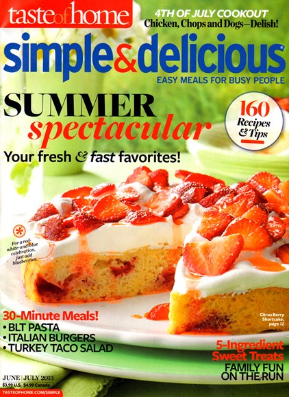 Simple & Delicious Cover - 6/1/2013