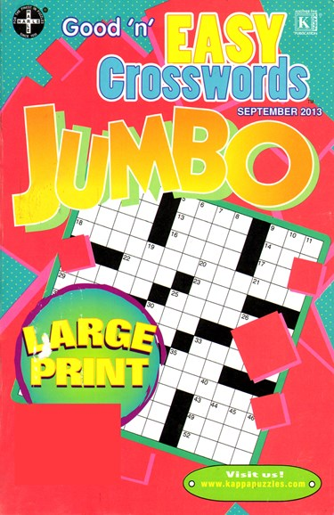 Good N Easy Crosswords Jumbo Cover - 9/1/2013