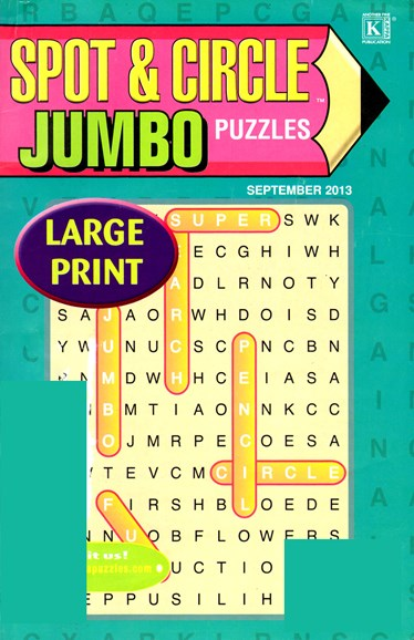 Spot & Circle Jumbo Cover - 9/1/2013