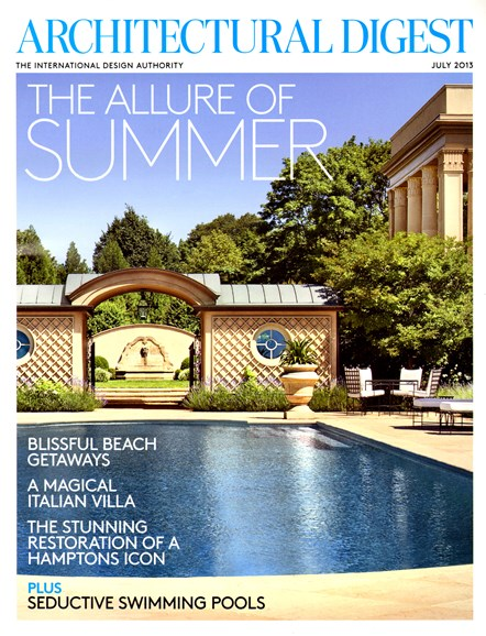 Architectural Digest Cover - 7/1/2013