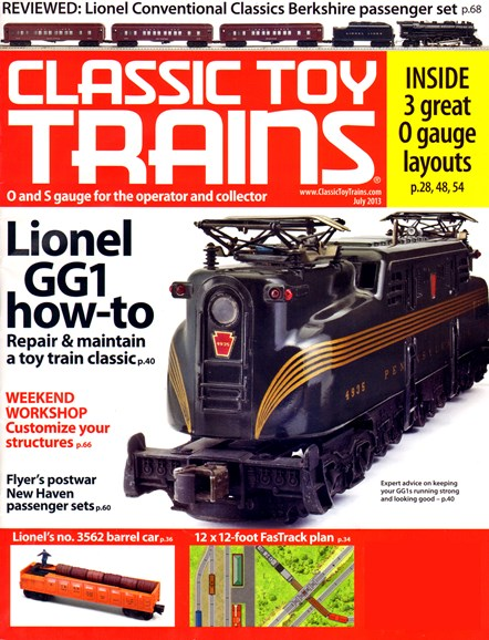 Classic Toy Trains Cover - 7/1/2013