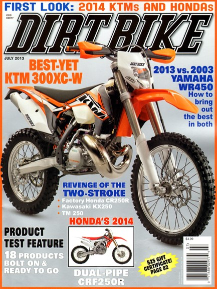Dirt Bike Cover - 7/1/2013