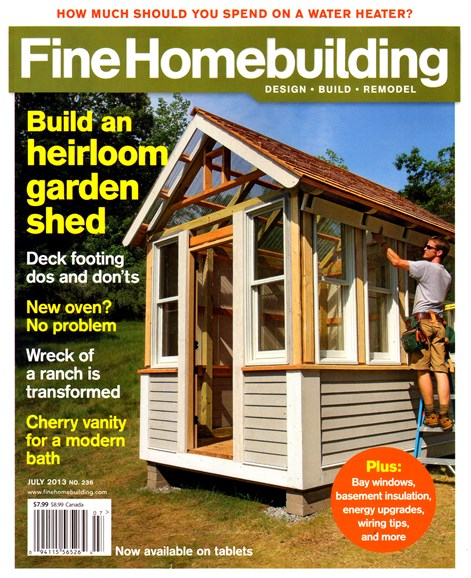 Fine Homebuilding Cover - 7/1/2013
