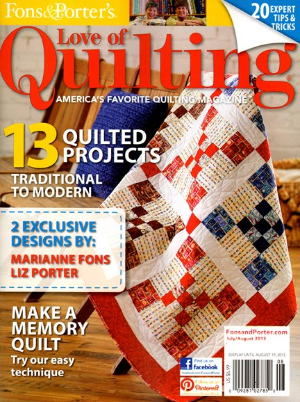 Fons & Porter's Love of Quilting Cover - 7/1/2013