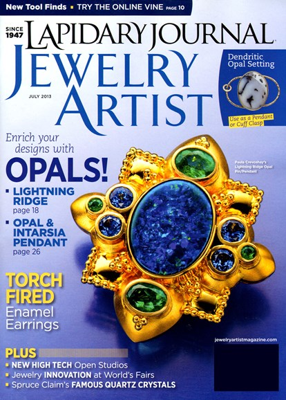 Lapidary Journal Jewelry Artist Cover - 7/1/2013