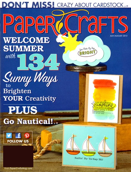Paper Crafts Cover - 7/1/2013