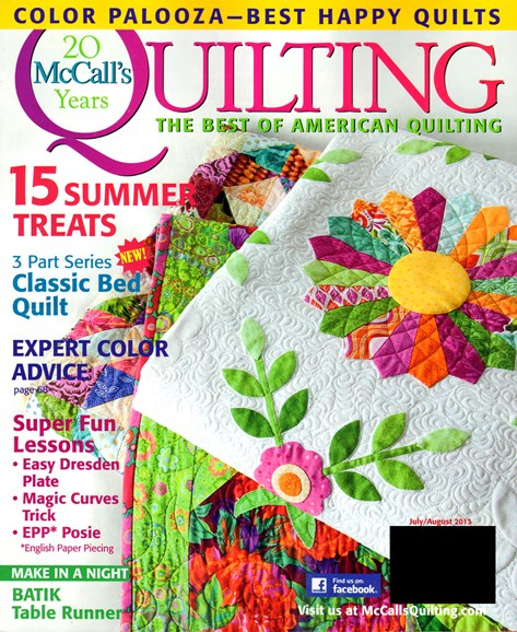 McCall's Quilting Cover - 7/1/2013