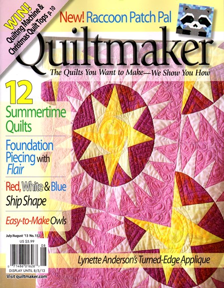 Quiltmaker Cover - 7/1/2013