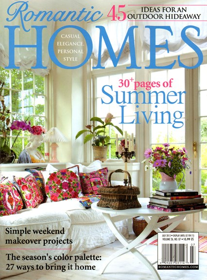 Romantic Homes Cover - 7/1/2013