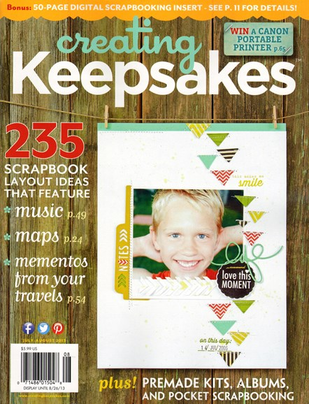 Creating Keepsakes Cover - 7/1/2013