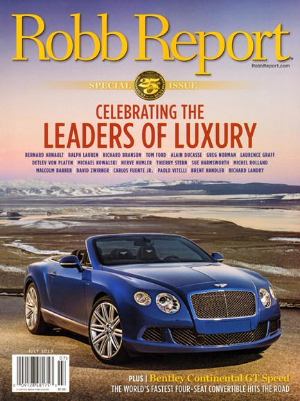 Robb Report Cover - 7/1/2013