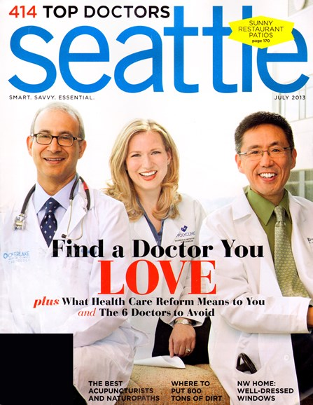 Seattle Magazine Cover - 7/1/2013