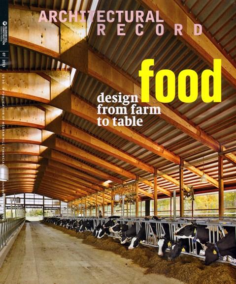 Architectural Record Cover - 7/1/2013