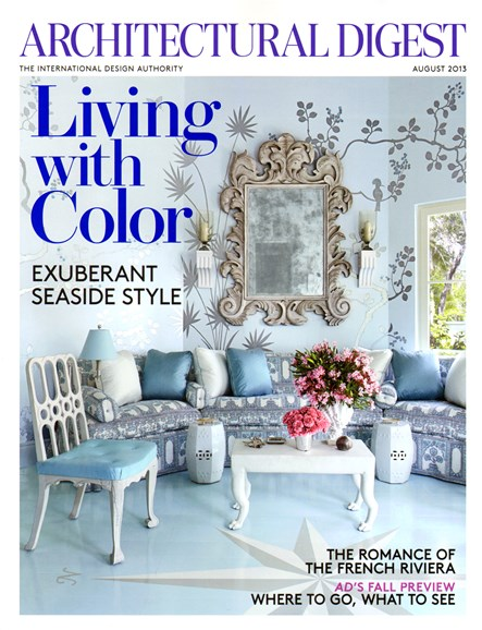 Architectural Digest Cover - 8/1/2013