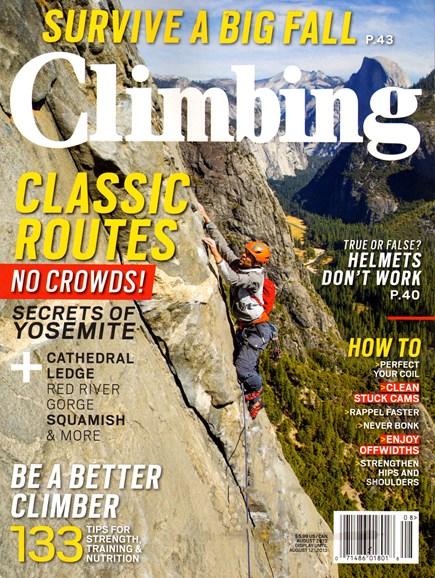 Climbing Magazine Cover - 8/1/2013
