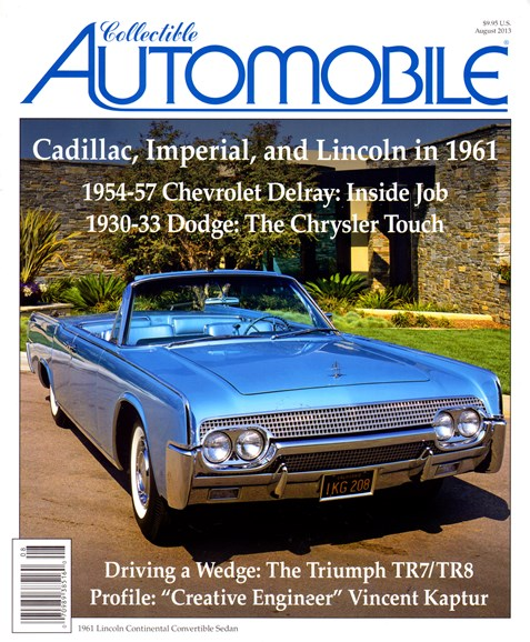 Collectible Automobile Cover - 8/1/2013