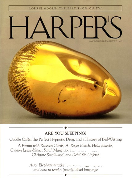 Harper's Cover - 8/1/2013