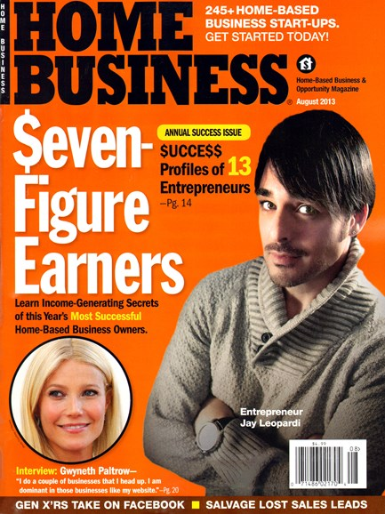 Home Business Magazine Cover - 8/1/2013