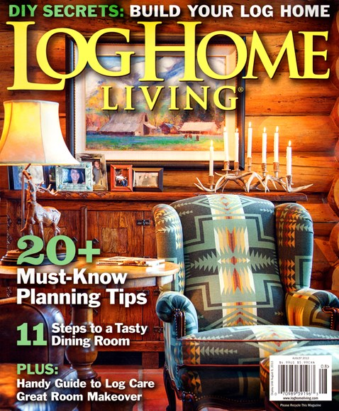 Log Home Living Cover - 8/1/2013