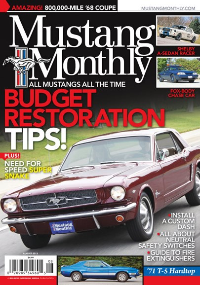Mustang Monthly Cover - 8/1/2013