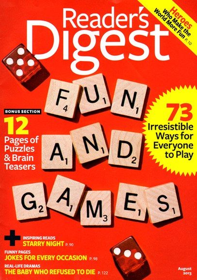 Reader's Digest Cover - 8/1/2013