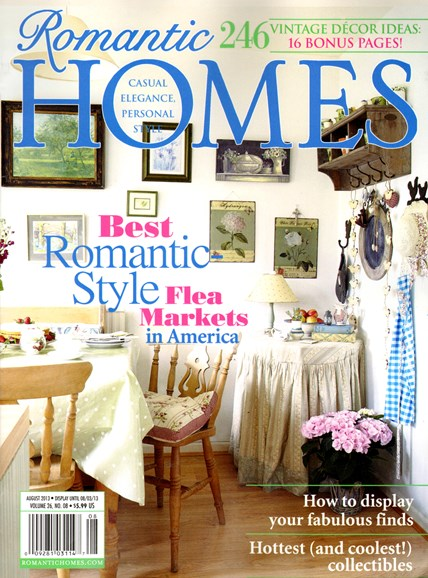 Romantic Homes Cover - 8/1/2013