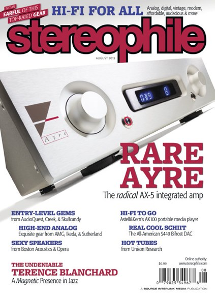 Stereophile Cover - 8/1/2013