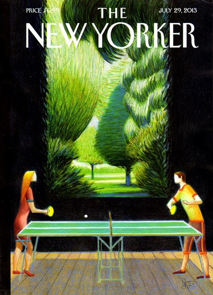 The New Yorker Cover - 7/29/2013