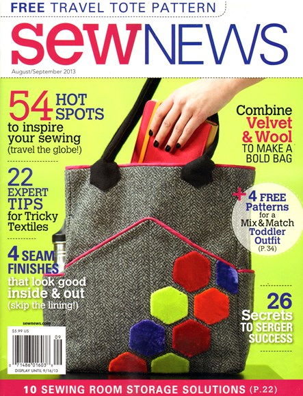 Sew News Cover - 8/1/2013