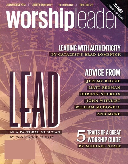 Worship Leader Magazine Cover - 7/1/2013