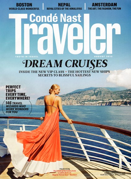 Condé Nast Traveler Cover - 8/1/2013