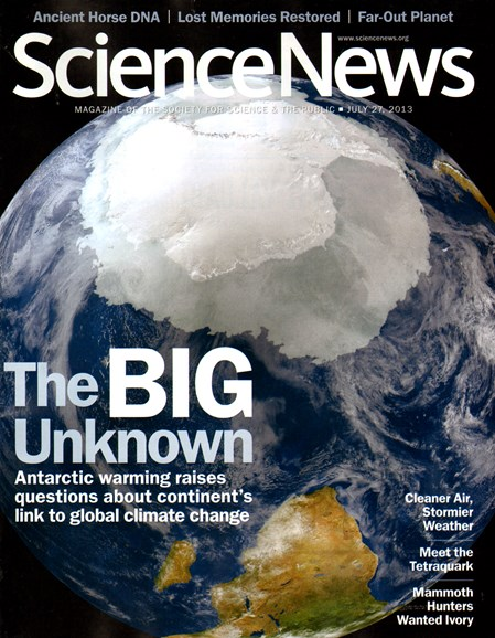 Science News Cover - 7/27/2013