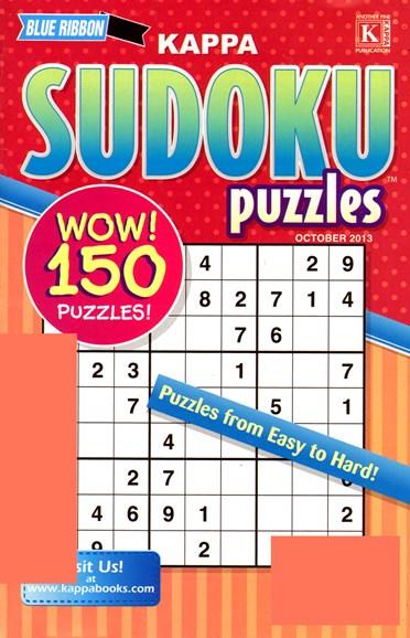 Blue Ribbon Kappa Sudoku Puzzles Cover - 10/1/2013
