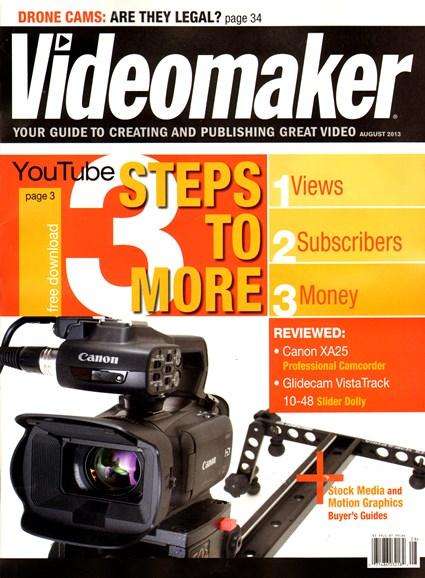 Videomaker Cover - 8/1/2013