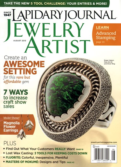 Lapidary Journal Jewelry Artist Cover - 8/1/2013