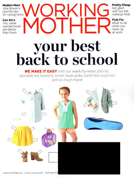 Working Mother Cover - 8/1/2013