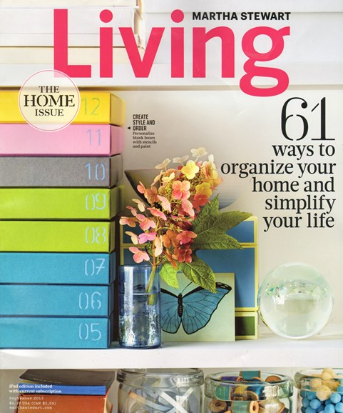 Martha Stewart Living Cover - 9/1/2013