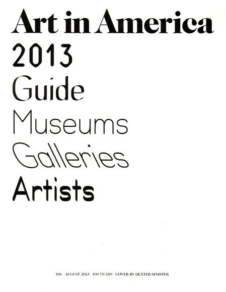 Art In America Cover - 8/1/2013