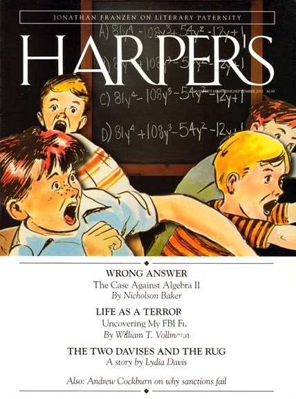 Harper's Cover - 9/1/2013